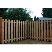 4FT Palisade Square Top Fencing Panels - 3 Panels Only (Base Price)