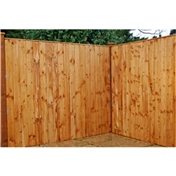 6FT Vertical Feather Edge Fencing (Flat Top) - 3 Panels Only (Base Price)