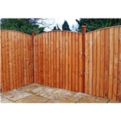 6FT Vertical Feather Edge Fencing (Domed) - 3 Panels Only (Base Price)