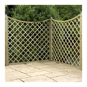 6FT Pressure Treated Concave Diamond Trellis -3 Panels Only (base)
