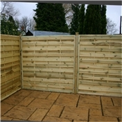 6FT Pressure Treated Horizontal Weave Fencing Panels - 3 Panels Only (Base Price)
