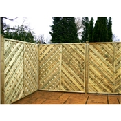 6FT Pressure Treated Chevron Weave Panels - 3 Panels Only (Base Price)