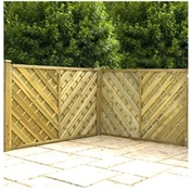 4FT Pressure Treated Chevron Weave Panels - 3 Panels Only (Base Price)