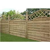 6FT Pressure Treated Wavey Horizontal Weave Fencing Panels - 3 Panels
