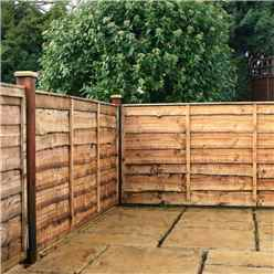4FT Lap Panel Overlap Fencing Panel - 1 Panel Only + Free Delivery*
