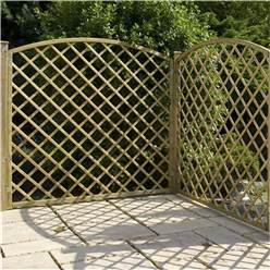 6FT Pressure Treated Convex Diamond Trellis - 1 Panel Only + Free Delivery*