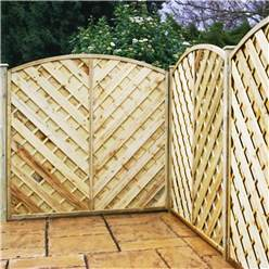 6FT Pressure Treated Curved Chevron Weave Panels - 1 Panel Only + Free Delivery*