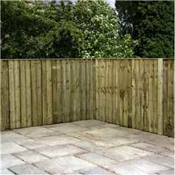 6FT Pressure Treated Vertical Feather Edge (Flat Top) - 1 Panel Only (Min Order 3 Panels) + Free Delivery*