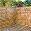 6FT Waney Edge Fencing Panels - 3 Panels Only (Base Price)