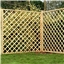 6FT Pressure Treated Diamond Trellis Fencing Panels - 10 Panels Only