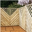 6FT Pressure Treated Chevron Weave Trellis Panels - 10 Panels Only (Base Price)