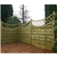 5FT Pressure Treated Concave Horizontal Weave + Trellis - 3 Panels