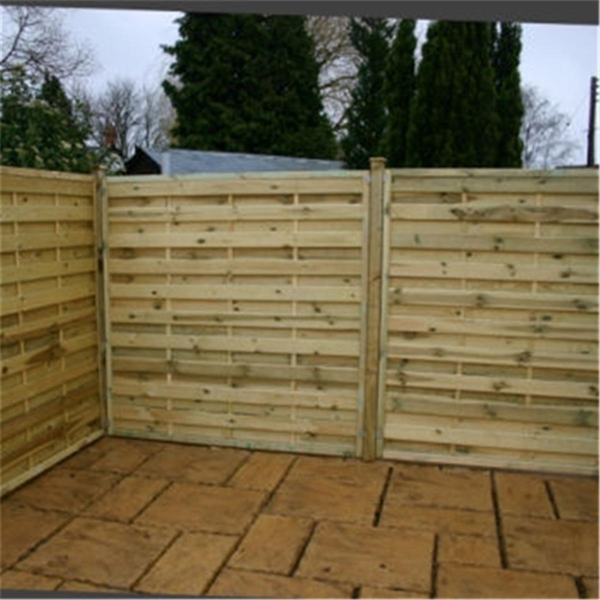 6ft pressure treated horizontal weave fencing panels 1. Black Bedroom Furniture Sets. Home Design Ideas