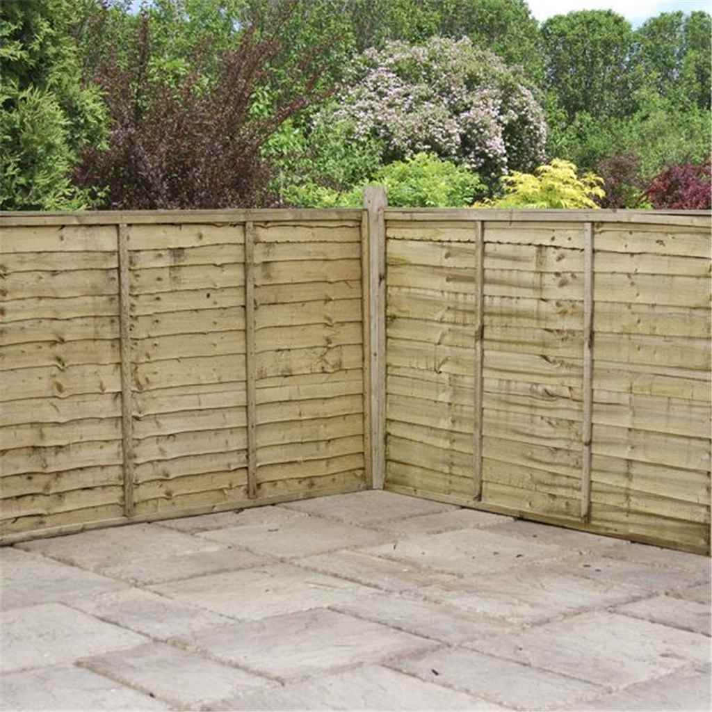 5ft pressure treated waney edge overlap fencing panels 1 panel only min order 3 panels free. Black Bedroom Furniture Sets. Home Design Ideas