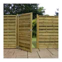 Pressure Treated Square Horizontal Weave Gate 6ft 1800 with Flat Top