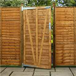 Pressure Treated 4ft (1.22m) Lap Panel Overlap Single Gate 3ft Wide