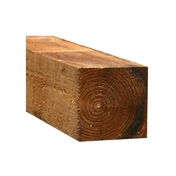 7FT x 3 x 3 INCH (2.1m x 75x 75mm) Sawn Brown Pressure Treated Fence Post (Add to pack)