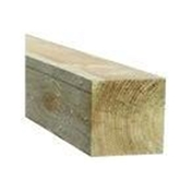 7FT x 3 x 3 INCH (2.1m x 75x 75mm) Green Pressure Treated Fence Post (Add to pack)