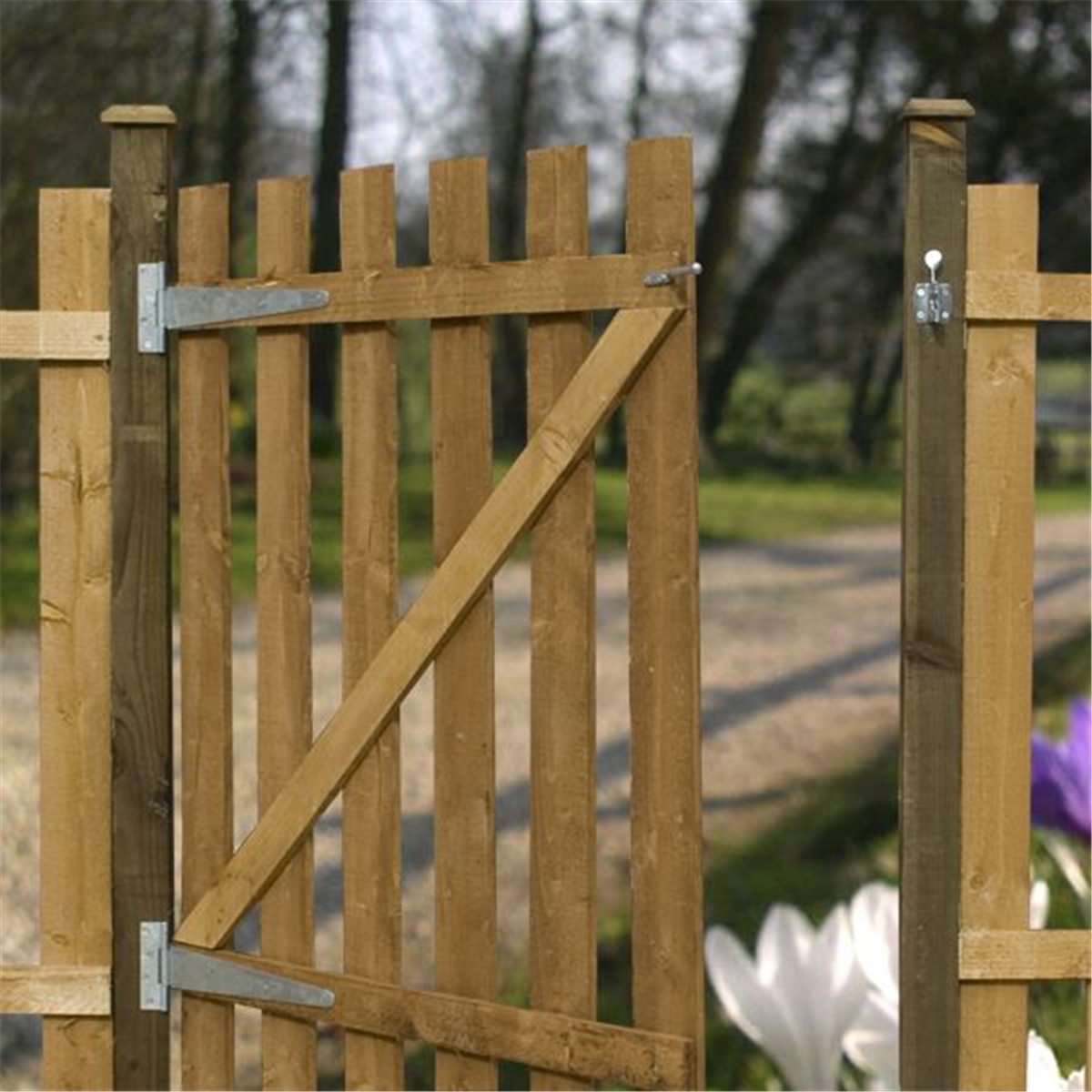 4ft High Palisade Square Top Gate 3ft Wide
