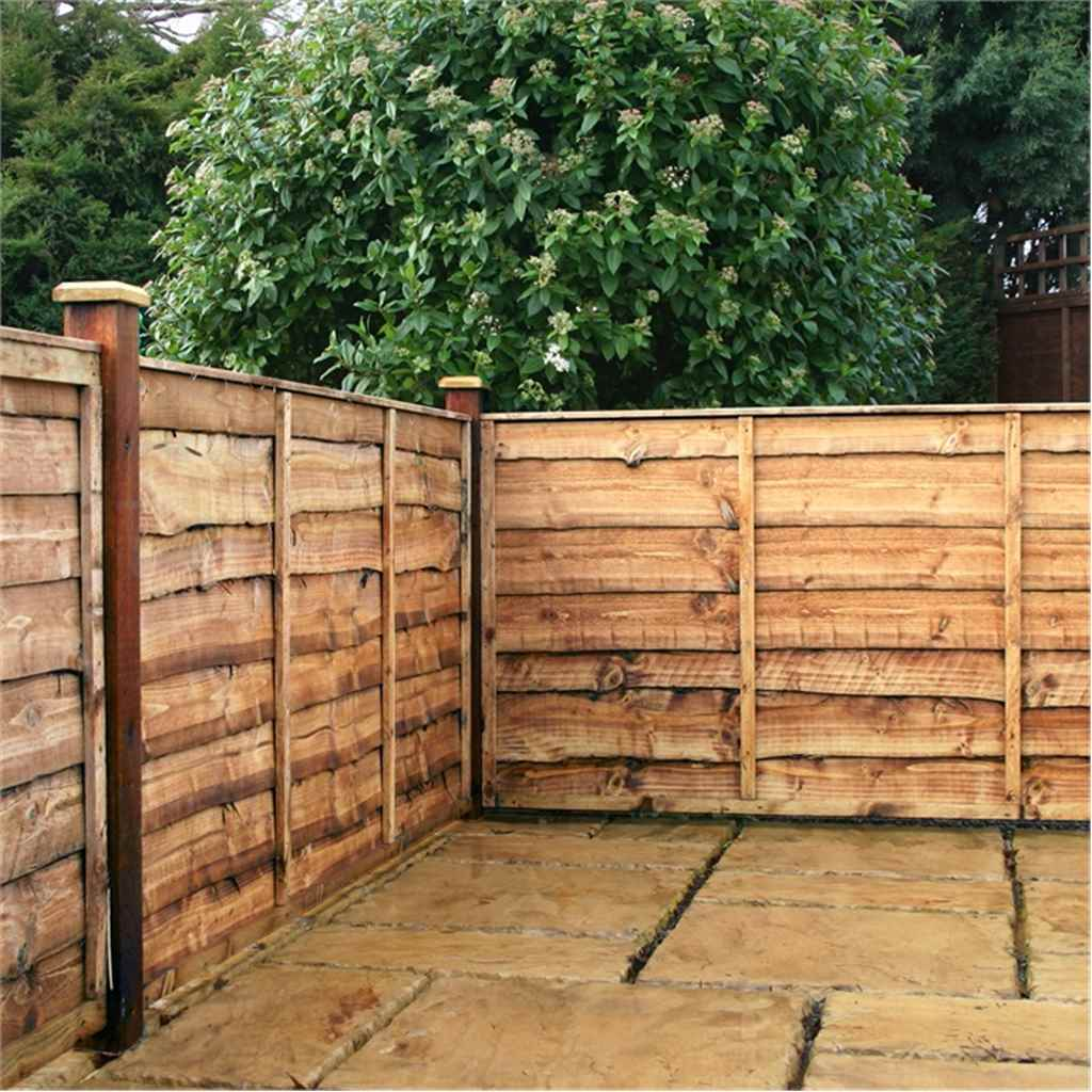 4ft Lap Panel Overlap Fencing Panel 1 Panel Only Min Order 3 Panels Free Delivery